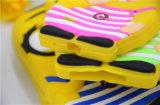 caja grande del teléfono del silicón de los subordinados del ojo de la camisa de tela escocesa 3D para la nota 7 (XSXH-002) de la galaxia S7 S6edge de Samsung