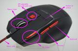 새로운 형식 디자인 고해상 인간 환경 공학 Laser 7D 도박 마우스