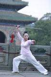 Resorte de las mujeres y lino del verano que se divierte mostrando el juego de Kongfu de la manera de la ji del Tai