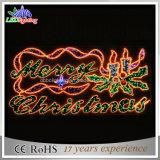 Luz decorativa do motivo do Feliz Natal da rua 150cm com vela