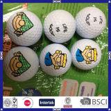 Bille de golf estampée par logo en gros pour le cadeau