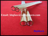 Tubo di vetro ricoperto oro caldo del quarzo del silicone fuso di vendita