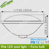 Le Dimmable RGB DEL Swimming Pool Lights 18W PAR56 DEL Underwater Light Color