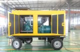 Tipo movible generador 20kw - 400kw del acoplado de la central eléctrica de la rueda