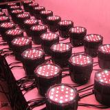 RGBW 54 3W impermeable etapa al aire libre Iluminación LED PAR 64