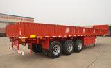 Nut 3 Aanhangwagen van de Vrachtwagen van de Lading van de Zijgevel van het Compartiment van de As Flatbed