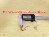 Bateria de polímero de lítio 3.7V 043040 403040 500mAh MP3 MP4 GPS Bluetooth Bateria de lítio 4 * 30 * 40mm GPS Bluetooth pequeno