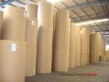 Feuilles moyennes et jaunes et papier d'emballage ondulant à haute résistance