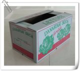 Carton ondulé ciré avec le logo ou la note fait sur commande d'impression