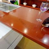 Parte superior do banco da cozinha da pedra do mármore da textura de Kingkonree