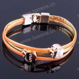 Verschiedene Art-buntes Netzkabel-geknotetes und geflochtenes Frauen-Form-Armband