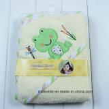 Disegni animali del tovagliolo di bagno incappucciato della coperta del bagno del bambino del cotone