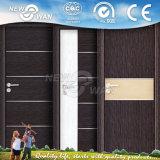 Porte intérieure de PVC de forces de défense principale de panneau en verre approuvé de CIQ Soncap