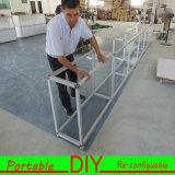 Изготовленный на заказ портативный модульный Shelving стойки выставки торговой выставки с Slatwall