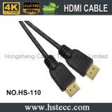 Кабель HDMI черного быстрого кабеля поставки HDMI алюминиевый