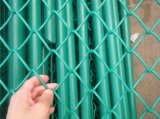 Profissional galvanizado/corrosão do PVC cerca elevada revestida da ligação Chain de resistência