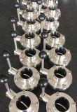 Санитарные струбцина качества еды 304/316L Tc клапан-бабочки нержавеющей стали/сварка/резьба/Male-Female машина CNC соединения