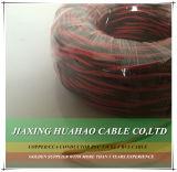 Cable transparente del altavoz del conductor 2X18AWG del CCA
