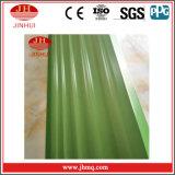 Grüne PVDF/Powder überzogene Aluminium-gewölbte Platten-dekorative Wand (Jh121)
