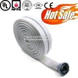Boyau résistant de température élevée de jupe de double de revêtement de PVC