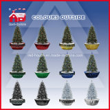 Sale quente Snowing Artificial Christmas Trees com diodo emissor de luz Light e Music