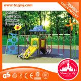 Baloiço de jardim de montagem de plástico de alta qualidade Swing Swing with Climbing Frame