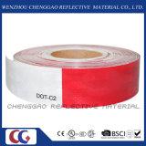 Rote und weiße DOT-C2 löschen reflektierendes Band für Verkehrszeichen (C5700-B (D))