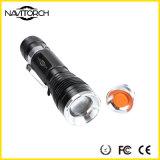 Teleskopischer Fokus bewegliche nachladbare CREE XP-E LED Fackel (NK-630)