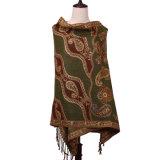 Inverno 100% longo do poliéster do lenço Pashmina para mulheres da forma