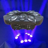 9*10W LEDのクリー族LEDの照明くもの移動ヘッドライト
