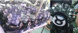 매트릭스 12W 크리 사람 9PCS RGBW 광속 세척 LED 이동하는 헤드