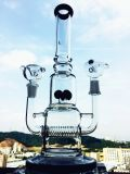 La fleur réutilisent les conduites d'eau en verre de fumage de qualité, pipe en gros en verre de système d'usine de qualité