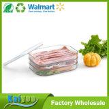 Rectángulo de múltiples capas del rizador de la carne del refrigerador de la cocina con la tapa