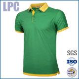Рубашка пола Pique сетки хлопка фабрики Китая напечатанная таможней