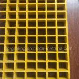 Reja moldeada fibra de vidrio para las plataformas de trabajo