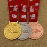 Medalla modificada para requisitos particulares metal de encargo del deporte del bronce de la plata del oro