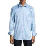 最新のデザイン人の長い袖の格子縞の偶然のワイシャツ