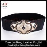 Moda Ladies Wide Elastic Cintura PU Leather Woman Belt