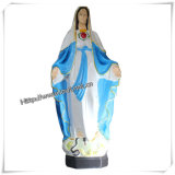 Statua religiosa cattolica all'ingrosso dei punti della madre Mary (IO-ca024)