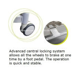 Cama de hospital médica manual patenteada da Dois-Manivela do projeto (HK-N204)
