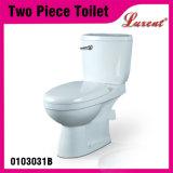 Alta calidad de cerámica Lavadero baldeo P-Trampa individual Flushing 2PC inodoro