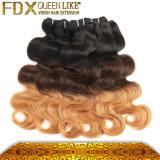 Trama reta do dobro do cabelo humano de 3 tons
