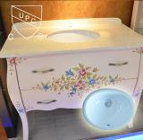 Lavabo de colada de cerámica del nuevo del diseño cuarto de baño aprobado de Cupc (SN004)