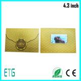 Поздравительная открытка LCD подгонянная экраном видео-/видео- брошюра (4.3inch, 5inch, 7inch)