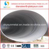 Pipa de acero soldada con autógena espiral de la corrosión anti