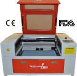 Máquina de gravura do laser do frasco de Mini-6040 50W com giratório