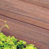 Placas plásticas de madeira do Decking do assoalho para ao ar livre (M166)