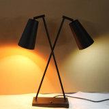 Lámpara de vector negra de cabecera de la luz doble de Matt del estilo chino