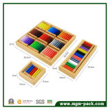 Giocattolo di legno certificato della scheda educativa su ordinazione di colore
