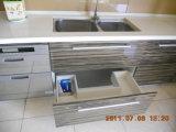 完全なオーバーレイの堅いかえでのシェーカー様式の食器棚